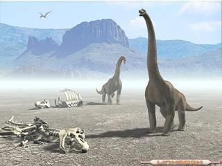 Esqueleto y Reproducci�n�de Dinosaurios