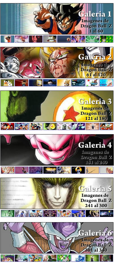 Galeria de Dragon Ball Z